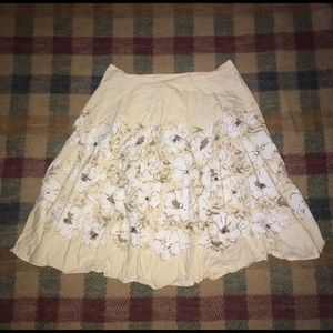 Floral george skirt size 16